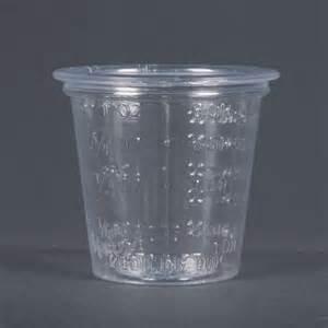 5000/cs 1oz Medicine Cup Plastic Clear Graduated