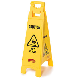 "Rubbermaid[R] ""Caution Wet Floor"" 4-Sided Floor Safety Sign. 6/cs"