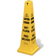 "S/o 36"" Safety Cone;Multi Lin/Caut Wet Floor"