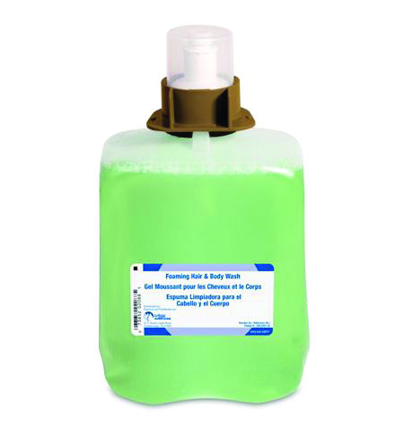 Bright Solutions Green Certified Foam Hand, Hair & Body Wash Refill for FMX-20™ Dispenser, 2/2000ml