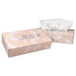 GP Preference[R] 2 Ply Facial Tissue - Flat Box, White. 30/cs