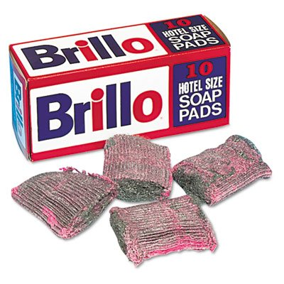 """Brillo Hotel Soap Pad Pad Size 3 1/2"""""""" X 4"""""""". 12 individual packages/box of 4"""