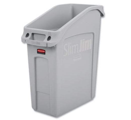 13gal Under Counter Slim Jim Container Gray