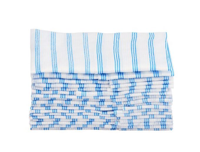 "HYGEN™ 12"" X 12"" DISPOSABLE MICROFIBER CLOTH, BLUE"