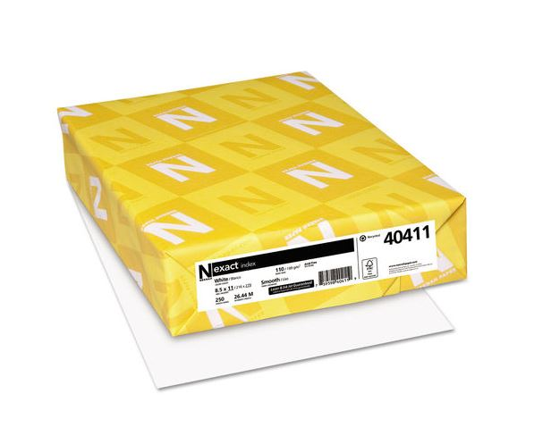 250/RM 8.5x11 White Card;Stock 94 Bright