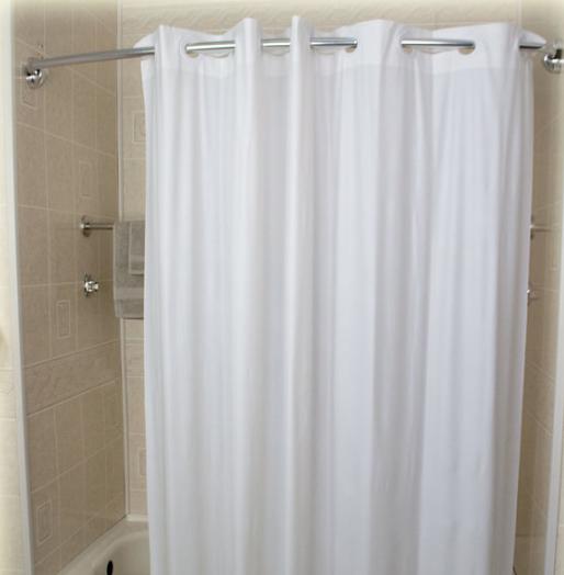 12/CS 6 Gauge 72x72;White Shower Curtain