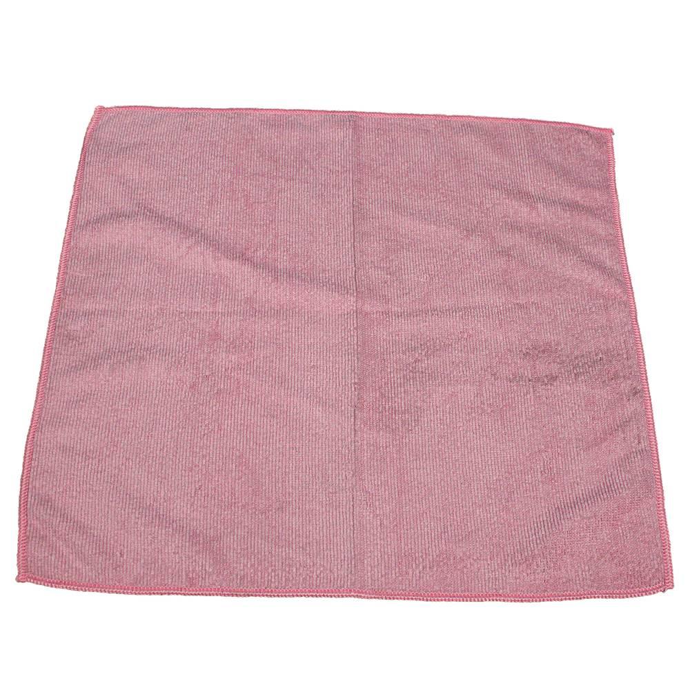 "12/bg Impact® Lighweight Pink Microfiber Cloth 16""x16"""