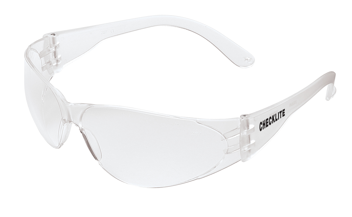 Crews Checklite Safety Glasses - Clear Lens w/Duramass. 144/cs
