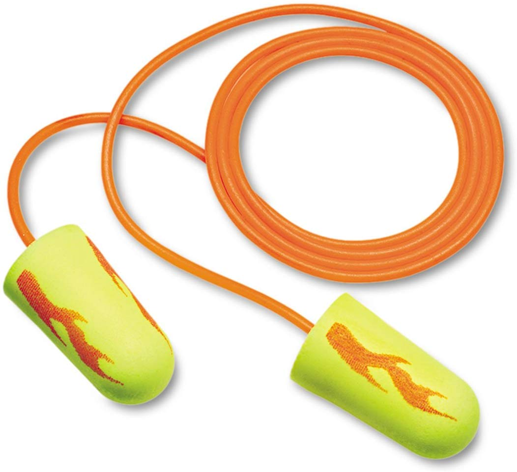 Yellow Earplugs Corded, PolyBag, Regular