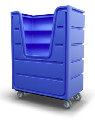 Bulk Laundry Cart Royal Blue
