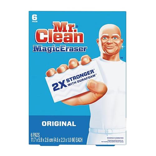 Mr. Clean Multi-Surface Magic Eraser with DURAFOAM Original, 6 Pack