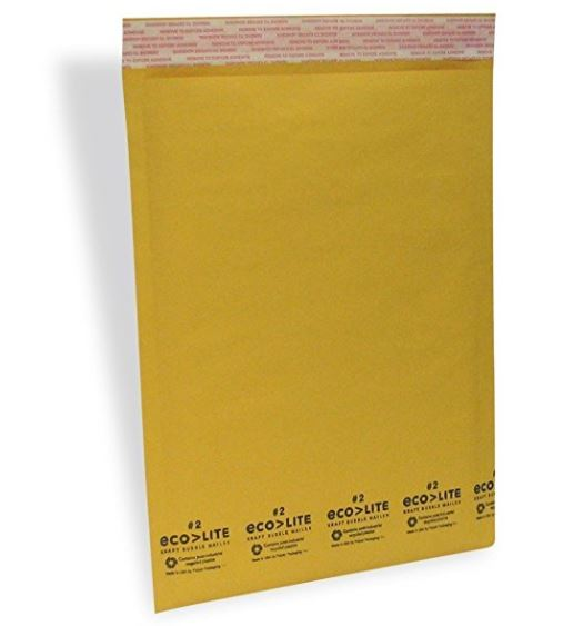 100 #2 8.5x12 Kraft;Bubble Mailers SS