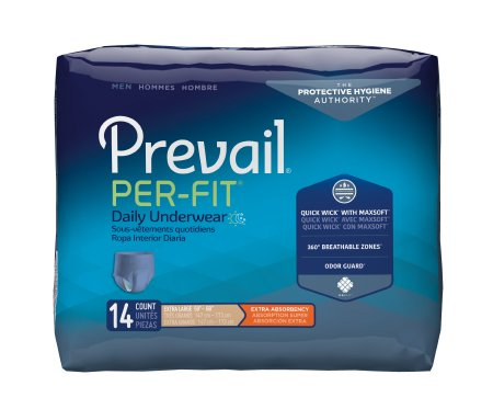 Male Adult Absorbent Underwear Prevail® Per-Fit® Men Pull On