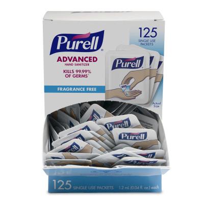 12/cs Purell Advanced;Hand Sanit Single Use Pk