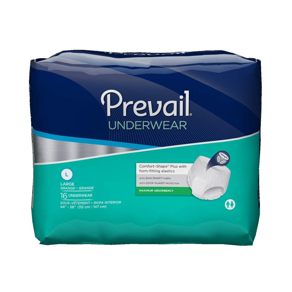 Prevail Protective Underwear, Maximum Absorbency, L (44'-58')