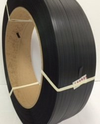 1/2x7000' Poly Strap Black Sm 600# 16x6 12/skid