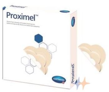 40/5 Proximel Silicone Dressing, With Border, Small Sacrum