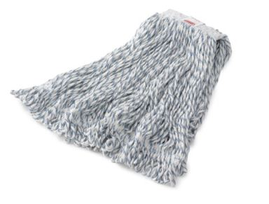 "Rubbermaid Web Foot Finish Mop - Medium, 1"", White. 6/cs"