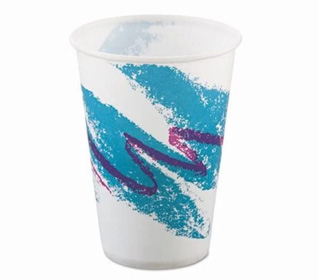 Jazz Waxed Paper Cold Cups, 10 Oz., Rolled Rim