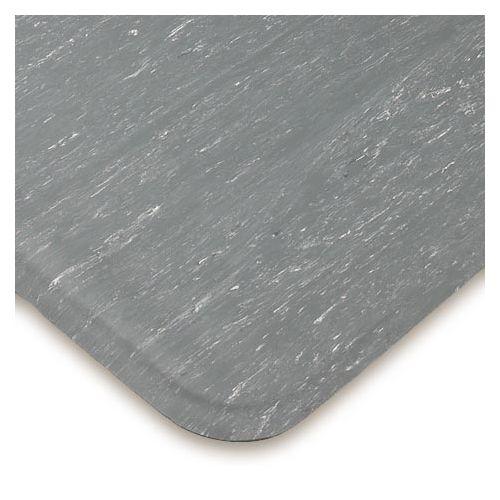 "3x10 Cushion Eze Gray White Marble Top Mat 1/2"""