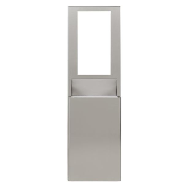 "ENMOTION® FLEX HIGH-CAPACITY RECESSED TRASH RECEPTACLE FOR 15"" CAVITIES BY GP PRO (GEORGIA-PACIFIC), STAINLESS, 1 TRASH RECEPTACLE"