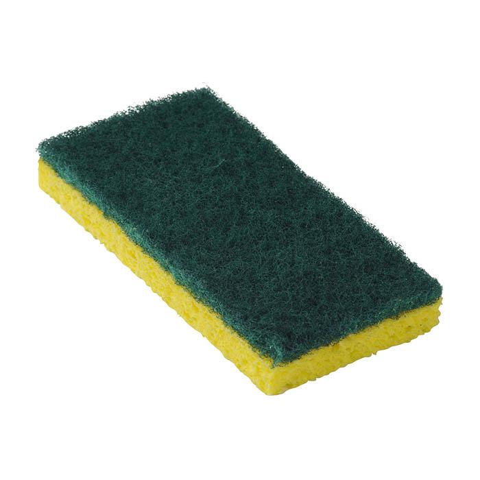 #745 Medium Duty Scouring Sponge, Yellow/Green, 20/cs