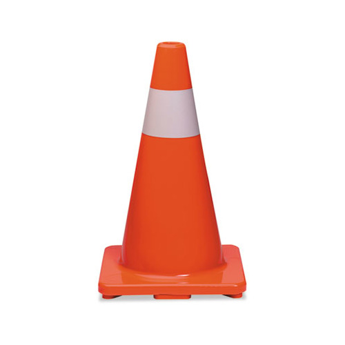 Orange and Silver Safety Cone