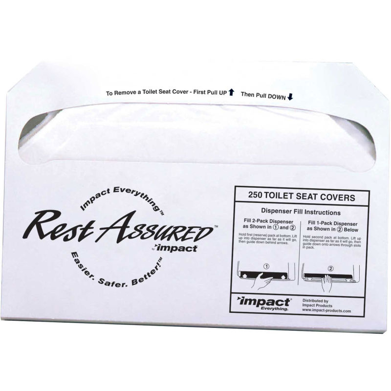 Impact Products Rest Assured™ 1/2 Fold Toilet Seat Covers