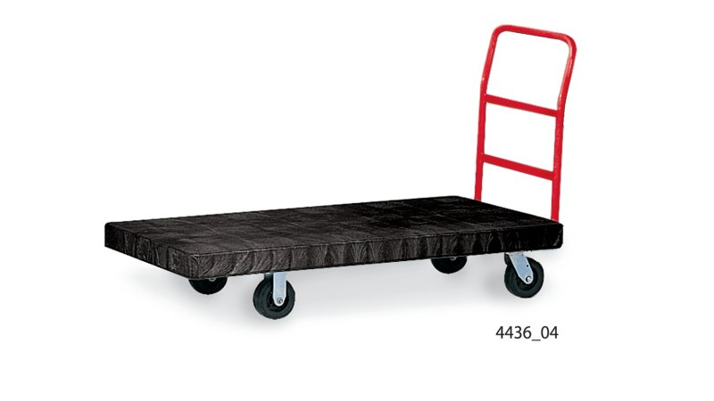 HEAVY-DUTY PLATFORM TRUCK, 24 IN X 48 IN WITH 8 IN TPR CASTERS