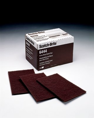 Scotch-Brite™ Extra Duty Hand Pad 6444, 6 in x 9 in, 20 pads per box 3 boxes per case