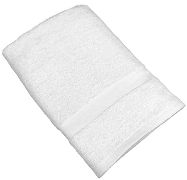 white bath towel
